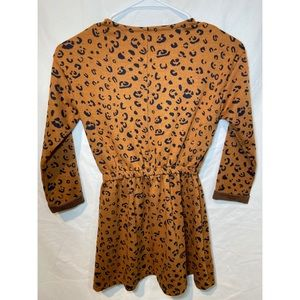 we dont know Dresses - Yellow Sub Rust Leopard Dress/Rumper- Girls 7-8